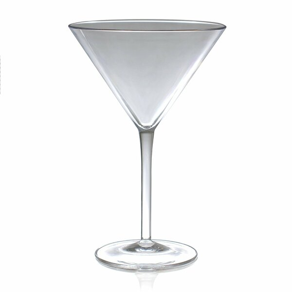 Stansberry 9 oz. Acrylic Martini Glass (Set of 4) by Latitude Run