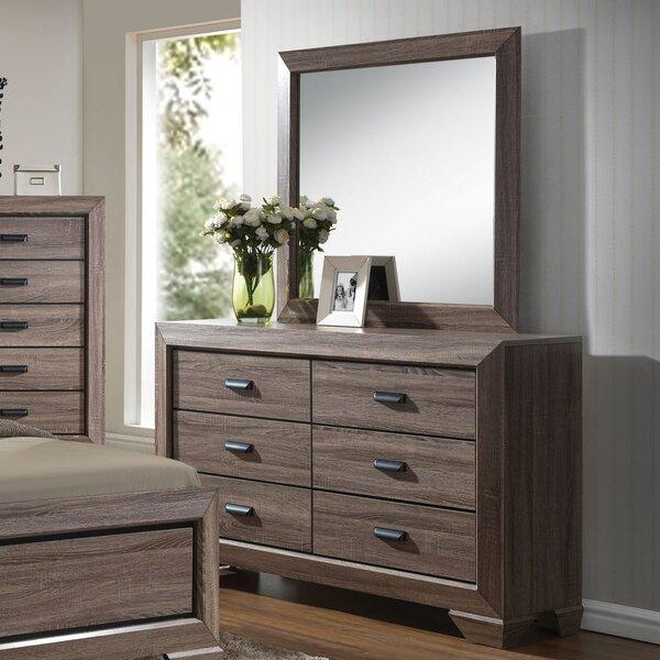 Weldy 6 Drawer Double Dresser with Mirror by Brayden Studio