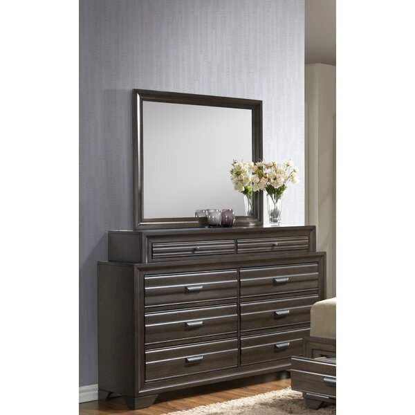 Benalla 8 Drawer Double Dresser with Mirror by Bloomsbury Market
