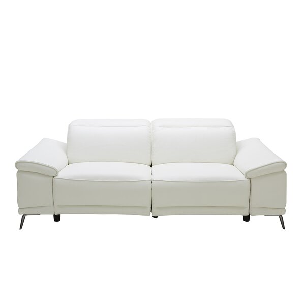 Brookville Leather Reclining Sofa by Wade Logan