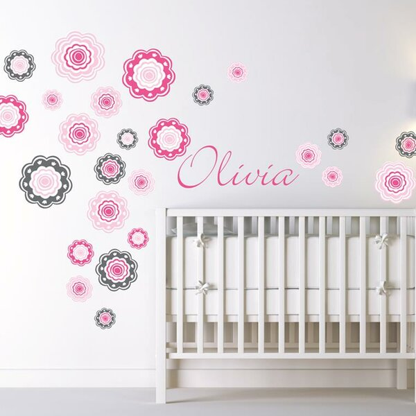 Blushing Blooms Wall Decal by Alphabet Garden Designs