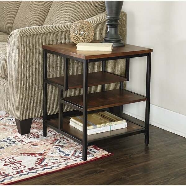 Lino End Table by Wrought Studio