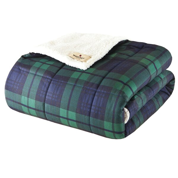 Brewster Down Alternative Softspun Fabric Throw by Woolrich