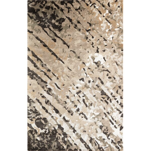 Aker Hand-Tufted Brown Area Rug by Orren Ellis