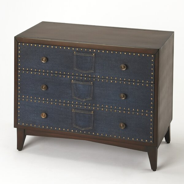 Kara 3 Drawer Chest by August Grove