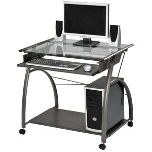 Vincent Pewter Computer Desk