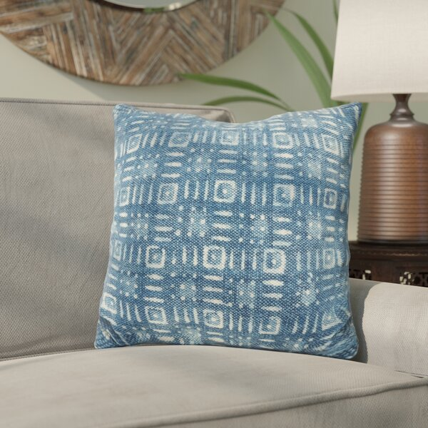 Rupert Distressed Down Filled Throw Pillow by Bungalow Rose
