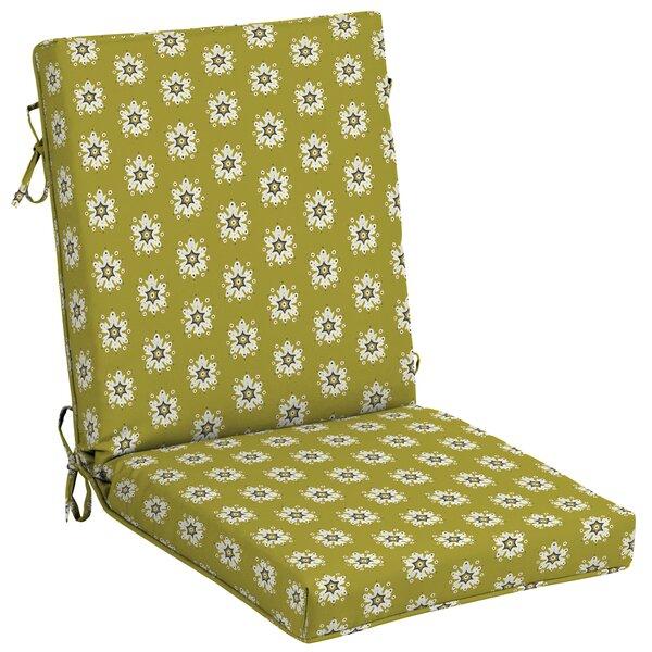 Balthrop Medallion High Back Outdoor Dining Chair Cushion