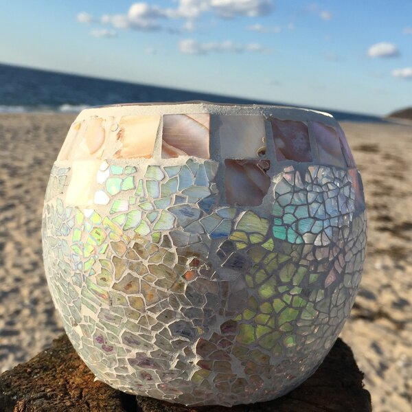 Beach Glass Votive by Whole House Worlds