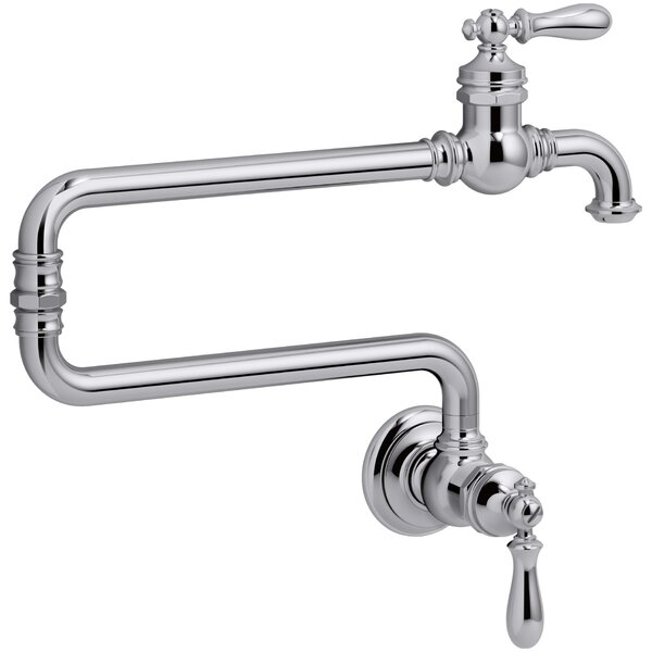 Artifacts Single-Hole Wall-Mount Pot Filler with 22 Extended Spout by Kohler