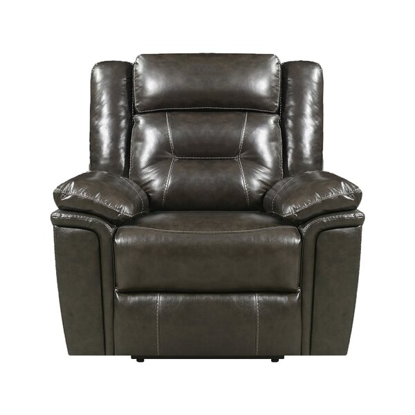 Marlink Leather Power Recliner by Red Barrel Studio