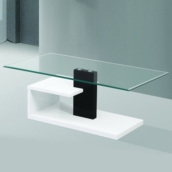 Creswell Modern Tempered Glass Coffee Table By Orren Ellis