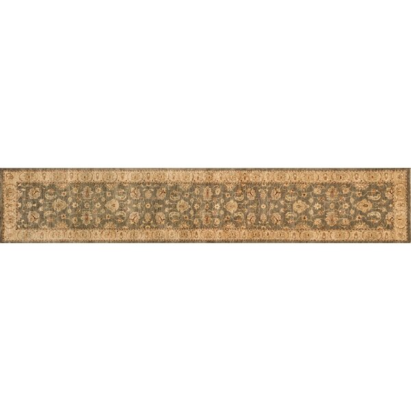 Durden Hand-Knotted Smoke/Beige Area Rug by Darby Home Co