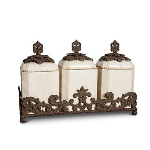 Kitchen Canister Set Of 3 By The Gg Collection
