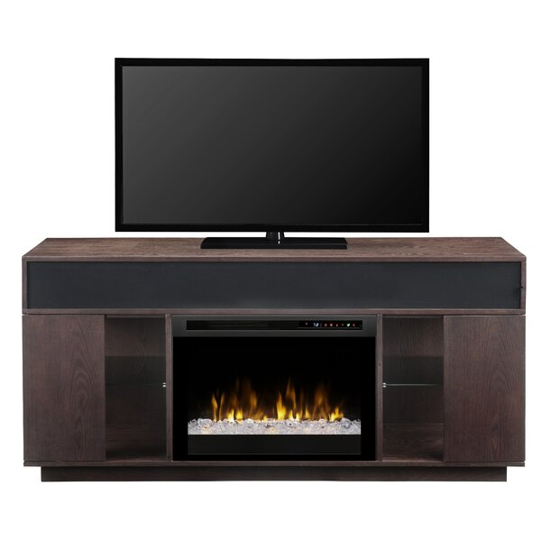 Sound Bar and Swing Doors 64.125 TV Stand with Fireplace by Dimplex