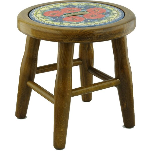 Star Polish Pottery Accent Stool by Polmedia