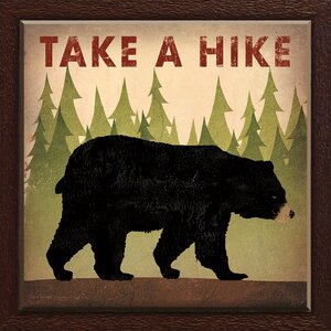 Take a Hike Bear by Ryan Fowler Framed Graphic Art by Star Creations