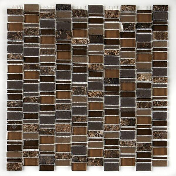 Clio Random Sized Glass Mosaic Tile in Eos by Dalt