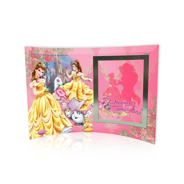 Disney Princesses (Belle) Curved Glass Print with Photo Frame by Trend Setters