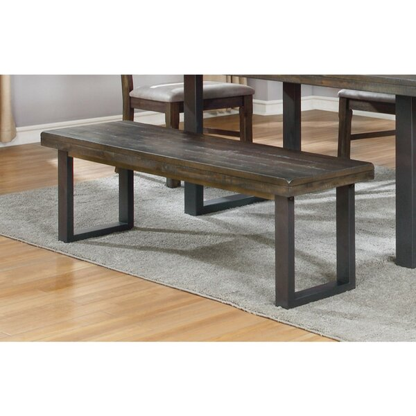 Cady Rustic Style Wood Dining Bench by Williston Forge