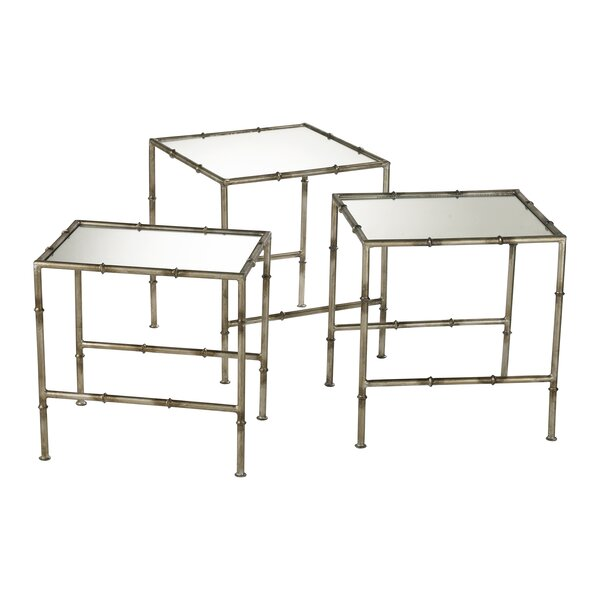 Bamboo 3 Piece Nesting Tables By Cyan Design