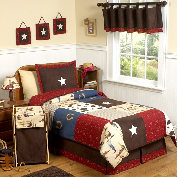Wild West Cowboy 4 Piece Twin Comforter Set by Sweet Jojo Designs