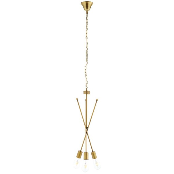 Bombard 3-Light Sputnik Chandelier by George Oliver