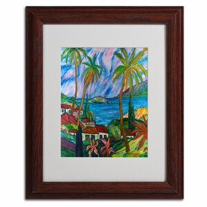 Tropical Paradise by Manor Shadian Framed Painting Print by Trademark Fine Art