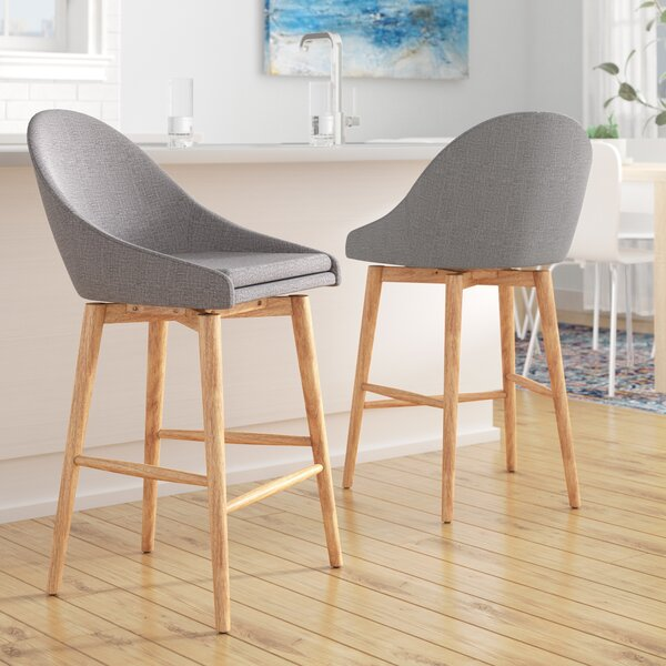 Prism Swivel Bar & Counter Stool (Set of 2) by Mercury Row