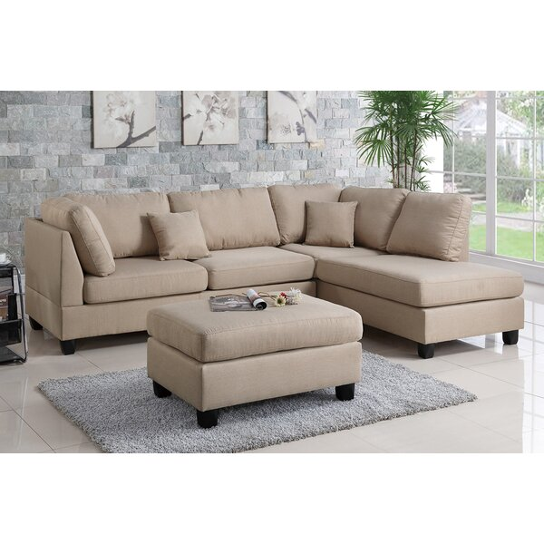 Hemphill Reversible Sectional with Ottoman by Ando