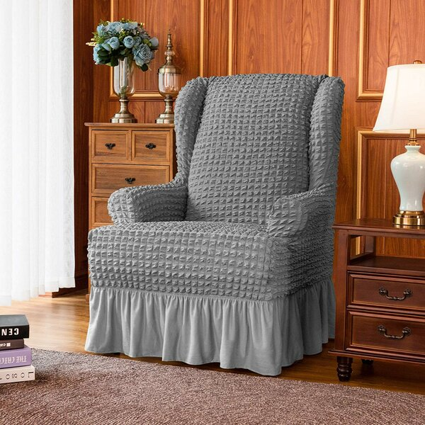 T-Cushion Wingback Slipcover By Canora Grey