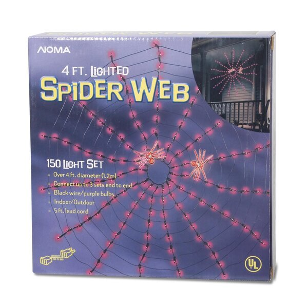 Halloween Spider Web 150 Light String Lights by Darice