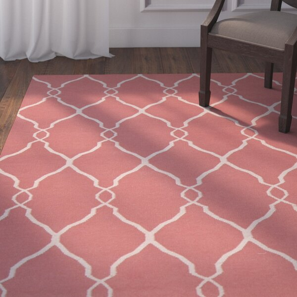 Findley Hand-Woven Coral/Ivory Area Rug by Darby Home Co