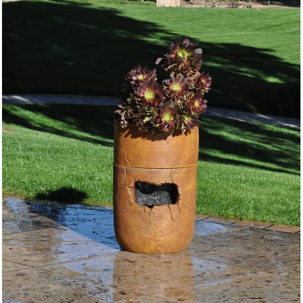 Rain Shower Cordless Fountain and Planter by Yeiser Research & Development LLC