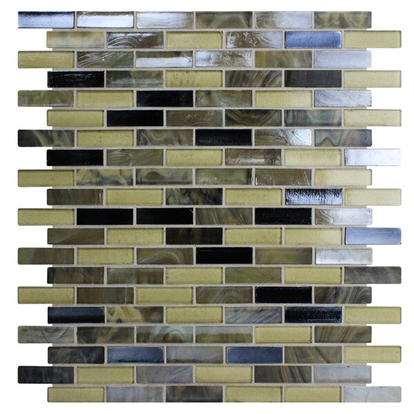 Opal 0.63 x 1.88 Glass Mosaic Tile in Tortoise Shell by Kellani
