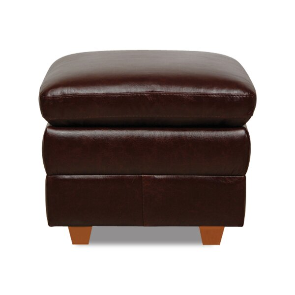 Austin Leather Storage Ottoman by Williston Forge