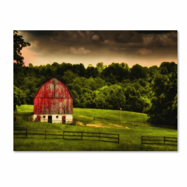 Summer Evening On the Farm by Lois Bryan Photographic Print on Wrapped Canvas by Trademark Fine Art
