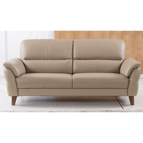 Shriner Leather Sofa by Brayden Studio
