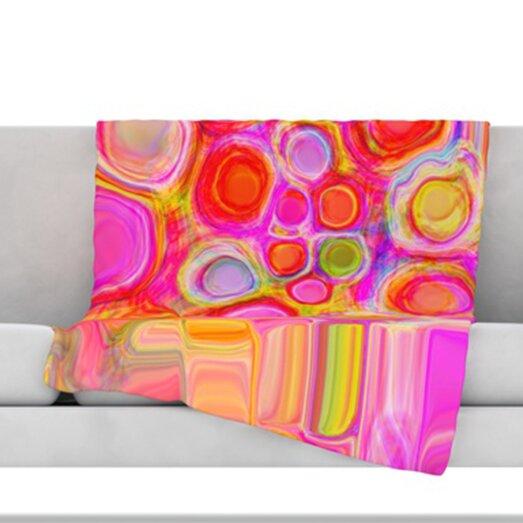 Spring Fleece Throw Blanket by KESS InHouse