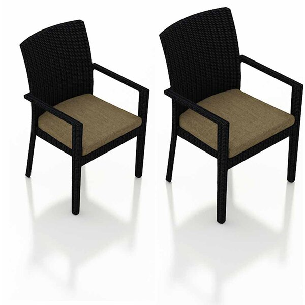 Azariah Patio Dining Chair with Cushion (Set of 2) by Orren Ellis