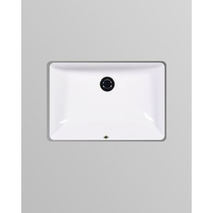 Affordable Muse Vitreous China Rectangular Undermount Bathroom Sink with Overflow By Icera