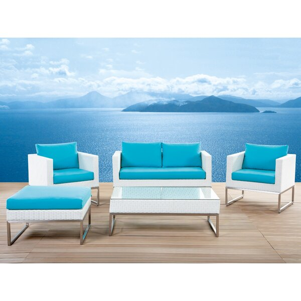 Ingalls 5 Piece Rattan Sofa Seating Group with Cushions (Set of 5) by Brayden Studio