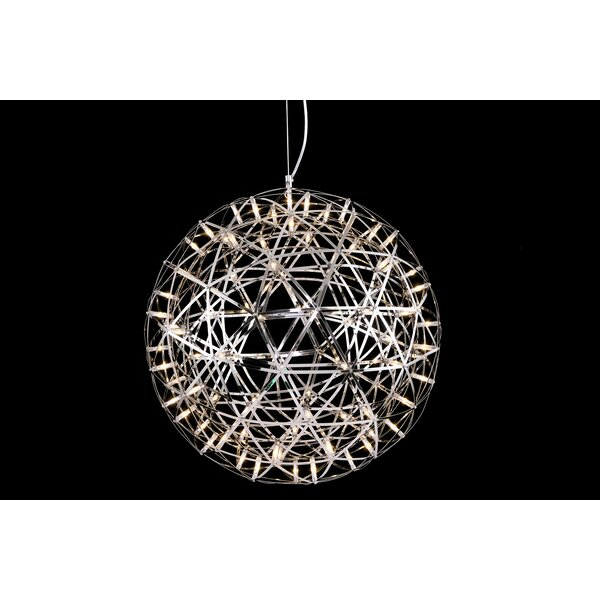 Mercuri 92 - Light Unique / Statement Globe Chandelier by Williston Forge Williston Forge