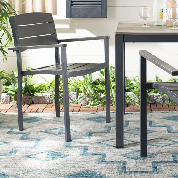 Cargile Stacking Patio Dining Chair (Set of 2) by Highland Dunes