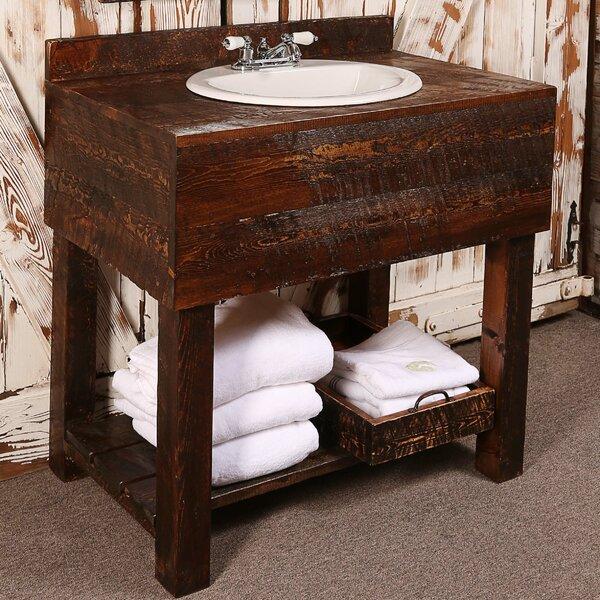 36 Single Rough Hewn Bathroom Vanity Set by Utah Mountain