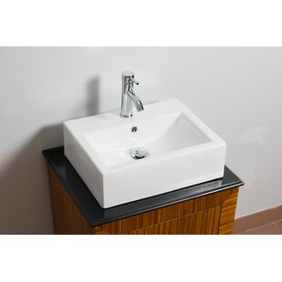 Reviews American Imaginations Ceramic 21 Wall Mount Bathroom Sink with Overflow ByAmerican Imaginations
