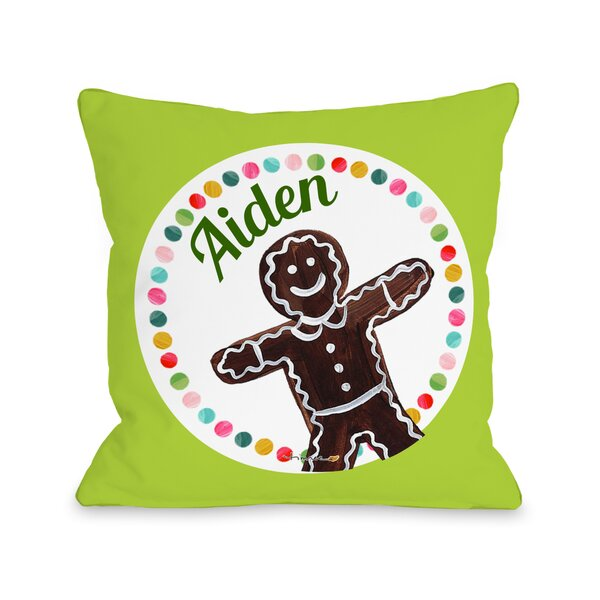 Gingerbread Personalized Throw Pillow by One Bella Casa
