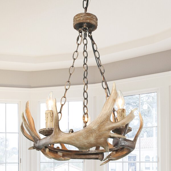 Vargas 3 - Light Candle Style Wagon Wheel Chandelier by Millwood Pines Millwood Pines