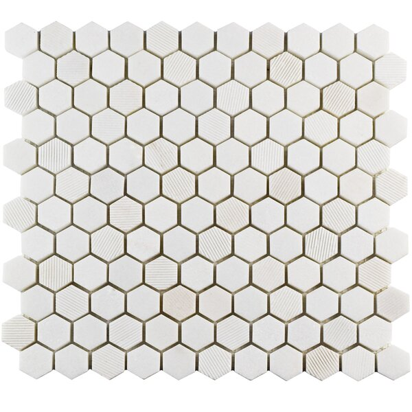 Formation 1 x 1 Marble Mosaic Tile in White by EliteTile