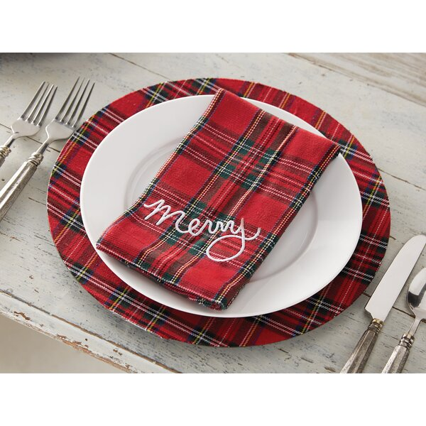 Tartan Plaid Napkins (Set of 4) by Mud Pie™